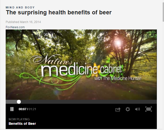 Fox News benefits of beer